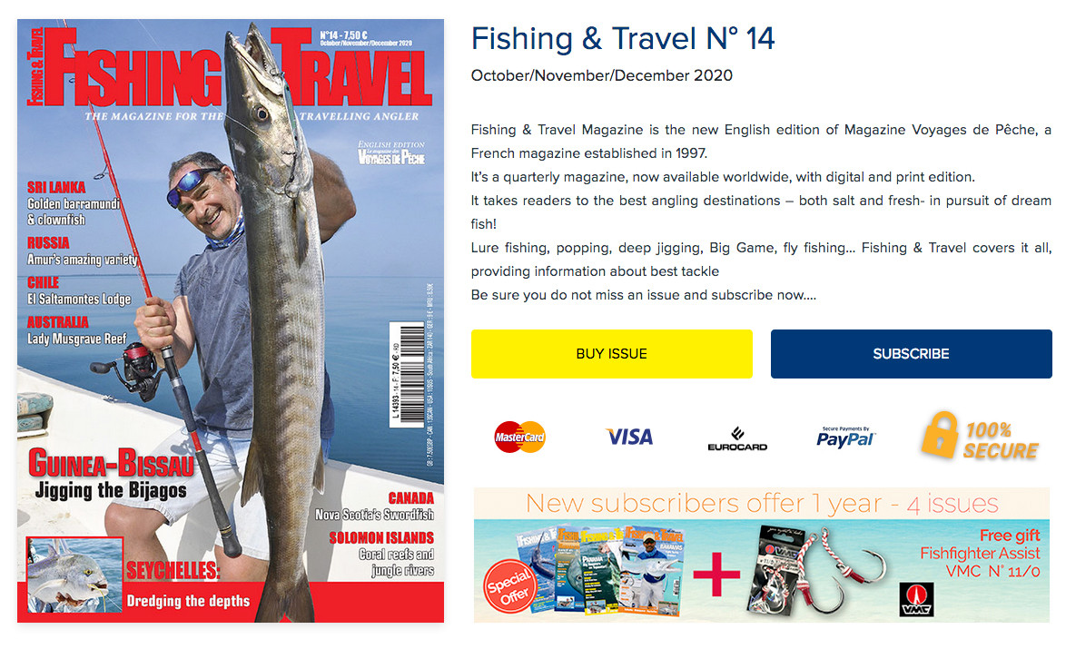 Fishing and Travel - Subscribe Now