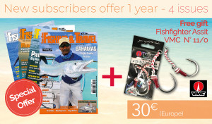 Subscription EUROPE - 1 year- 4 issues + Fishfighter Assit VMC N° 11/0