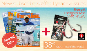 Subscription USA / Rest of the World - 1 year - 4 issues + Fishfighter Assit VMC N° 11/0