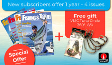 New subscribers offer l year - 4 issues + VMC Tuna Circle 360° 8/0