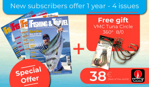 Subscription Rest of the World - 1 year - 4 issues + VMC Tuna Circle 360° 8/0