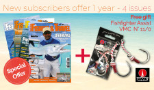 New subscribers offer l year - 4 issues + Fishfighter Assist VMC