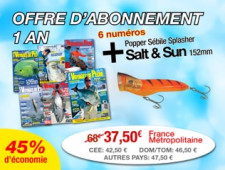 OFFRE D'ABONNEMENT + LE POPPER SÉBILE SPLASHER SALT & SAND 152MM